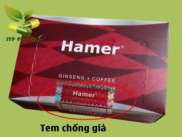 Mặt sau hộp Kẹo Sâm Hamer