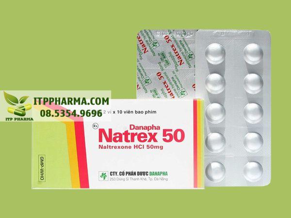 Thuốc Natrex 50 với thành phần chính là Naltrexone