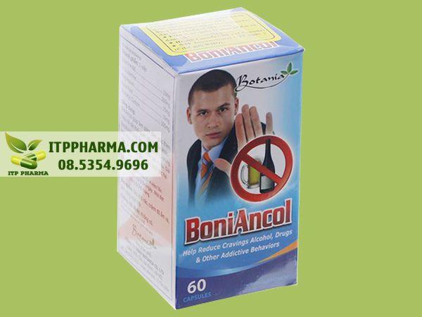 Boniancol là sản phẩm có tác dụng làm mất cơn thèm rượu, giải rượu