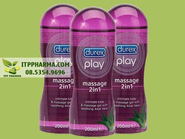 Gel bôi trơn tăng độ ẩm Durex Play Massage 2in1