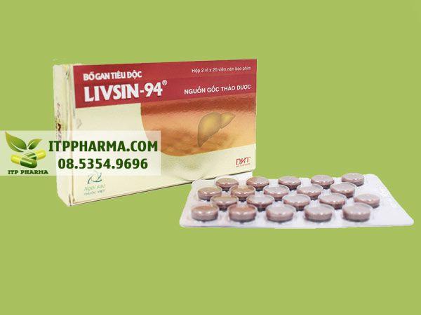 Thuốc bổ gan tiêu độc Livsin-94