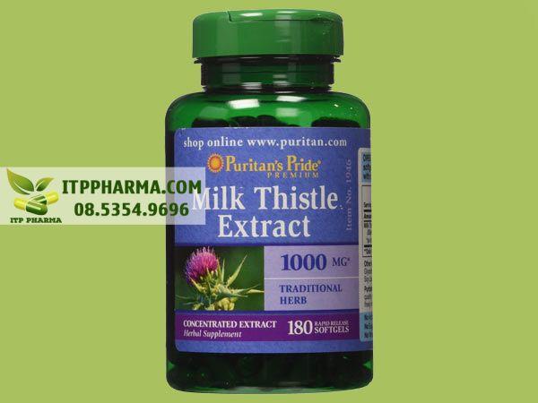 Thuốc giải độc gan Milk Thistle Extract 1000mg