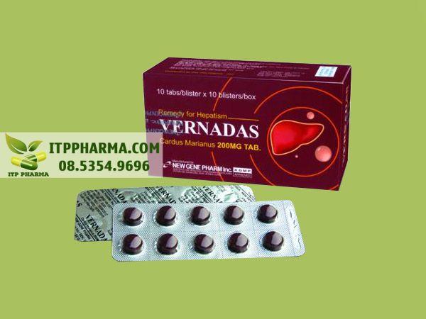 Thuốc hạ men gan Vernadas