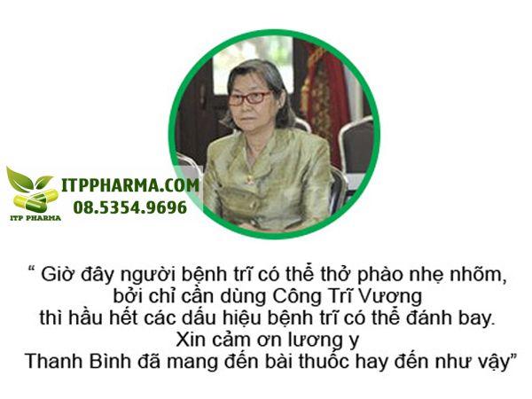 Dược sĩ Lương Đình Hựu nhận xét về sản phẩm Công Trĩ Vương