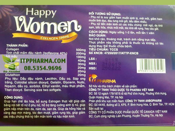 Các thành phần của Happy Women