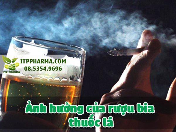 Ảnh hưởng của rượu bia thuốc lá