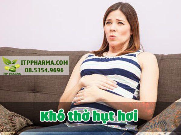 Dấu hiệu mang thai khó thở hụt hơi