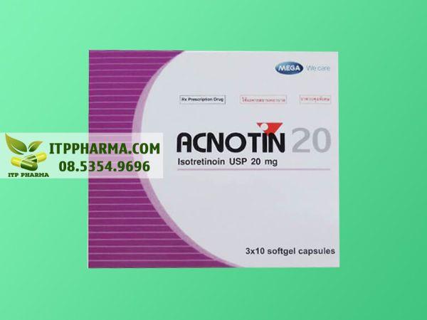 Hình ảnh thuốc Acnotin 20mg mặt trước