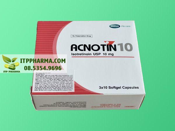 Hình ảnh thuốc Acnotin 10mg mặt trước