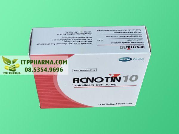 Hình ảnh thuốc Acnotin mặt trên