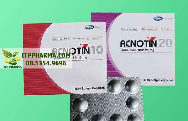 Thuốc Acnotin giúp trị mụn trứng cá