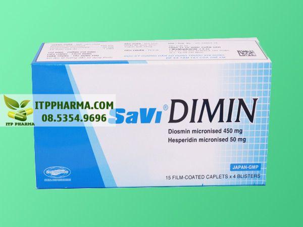Thuốc điều trị bệnh trĩ Savi dimin 500mg