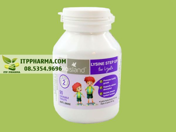 Thuốc tăng chiều cao Bio Island Lysine Step Up For Youth