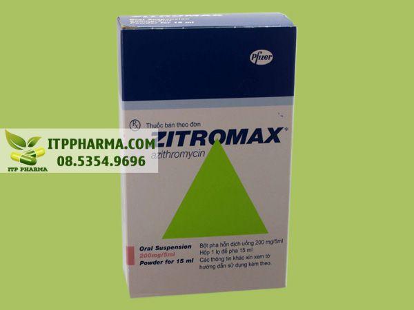Hình ảnh hộp thuốc Zithromax 200mg/5ml