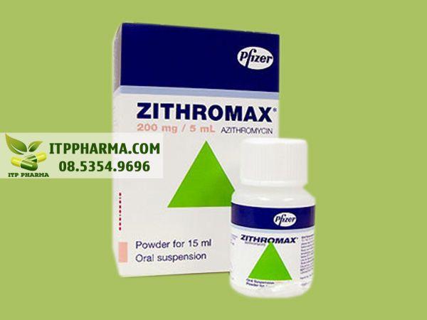 Zithromax 200mg/5ml - điều trị các bệnh nhiễm khuẩn