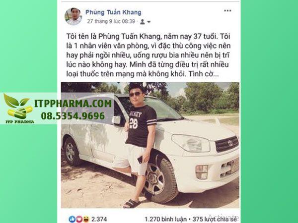 Phản hồi của người sử dụng Antri Ngọc Linh trên facebook