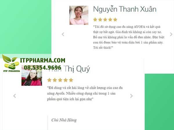Review Cao Ayofa Relax từ người dùng
