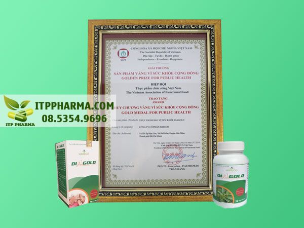 Giải thưởng sức khỏe của sản phẩm Diagold