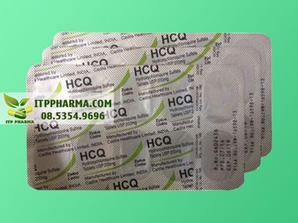 Hình ảnh thuốc Hydroxychloroquin mặt sau