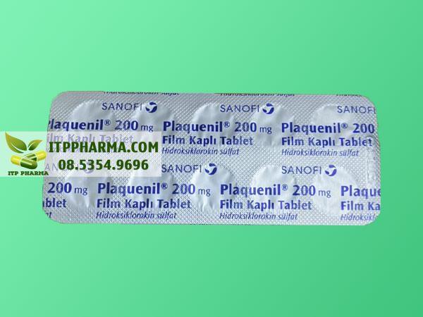 Mặt sau vỉ thuốc Plaquenil 200mg (ảnh thật)