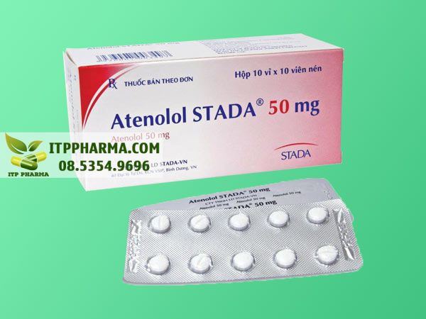 Thuốc điều trị tăng huyết áp Atenolol