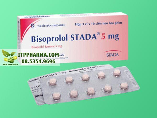 Thuốc điều trị tăng huyết áp Bisoprolol