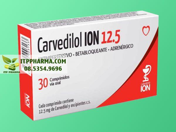 Thuốc điều trị tăng huyết áp Carvedilol