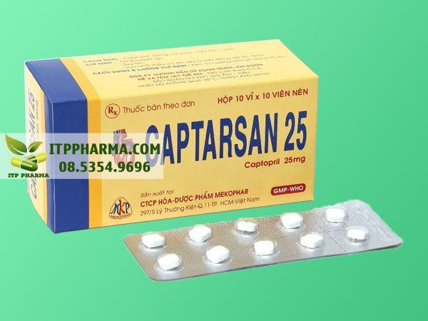 Thuốc điều trị tăng huyết áp Captopril