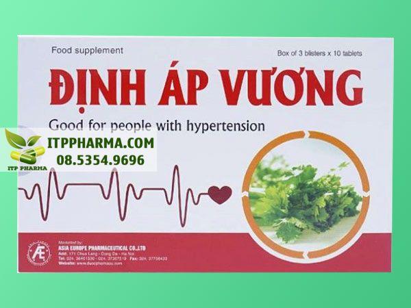 Thuốc điều trị tăng huyết áp Định Áp Vương