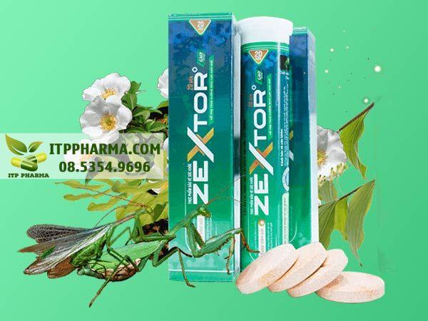 Viên sủi Zextor được bào chế từ các thành phần thiên nhiên