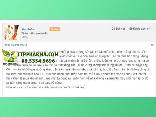 Review Kem Trị Mụn Zapzyt từ người dùng