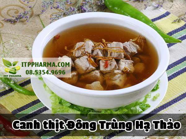 Canh thịt Đông Trùng Hạ Thảo