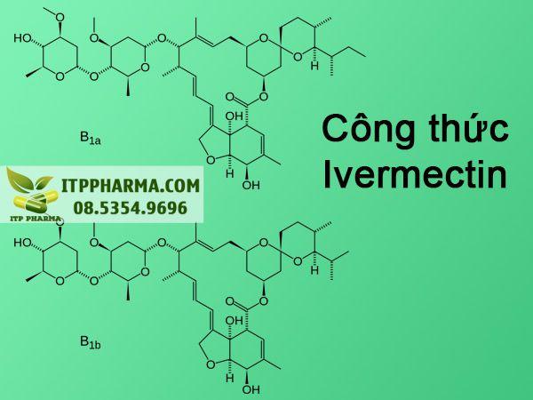 Công thức hóa học thuốc Ivermectin