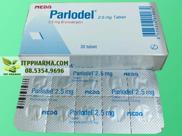 Hình ảnh thuốc Parlodel mặt trước