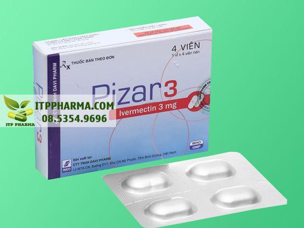 Hình ảnh thuốc Pizar 3 chứa hoạt chất Ivermectin