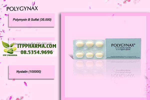 Thành phần của thuốc đặt phụ khoa Polygynax