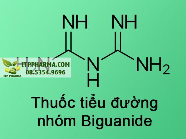 Công thức nhóm thuốc tiểu đường Biguanide