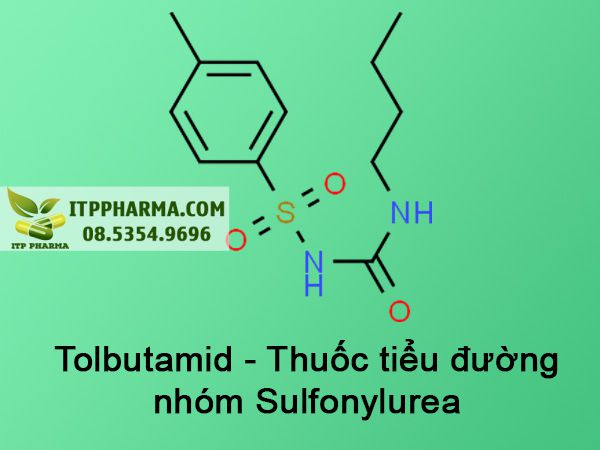 Công thức Tolbutamid - Thuốc tiểu đường nhóm Sulfonylurea