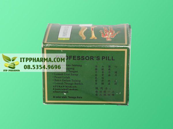 Professor's Pill Keluaran Baru mặt sau chứa thông tin sản phẩm