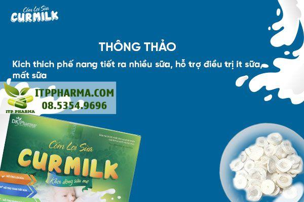 Thông thảo kích thích phế nang tiết ra nhiều sữa, hỗ trợ điều trị ít sữa, mất sữa