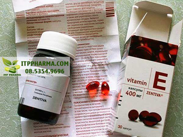 Tờ hướng dẫn sử dụng Vitamin E đỏ Nga