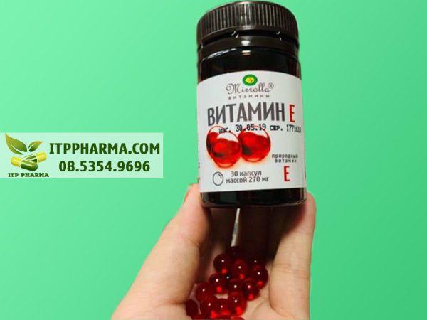 Hình ảnh Vitamin E đỏ Nga dạng viên