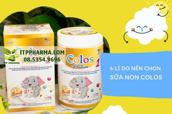 6 Lí do nên chọn Sữa non Colos Platinum 1