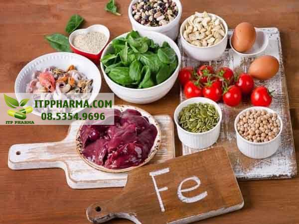 Thực phẩm chứa nhiều sắt