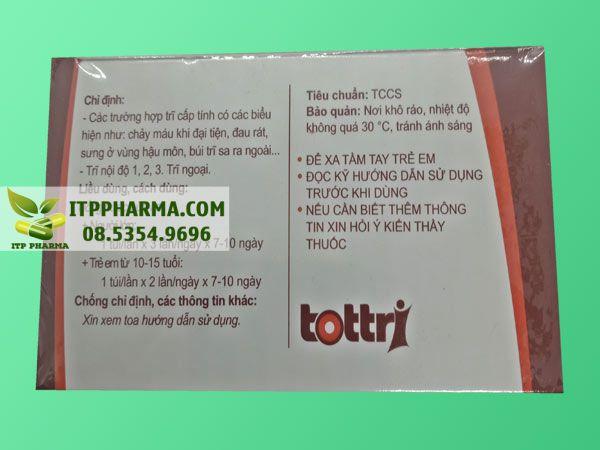 Hình ảnh thuốc trĩ trĩ Tottri