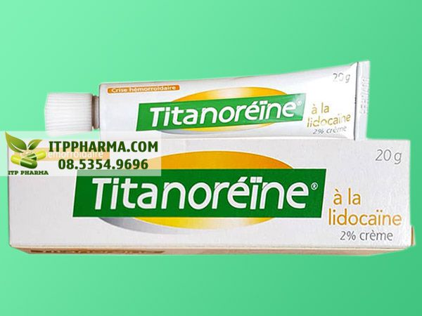 Thuốc bôi trĩ Titanoreine mặt trước