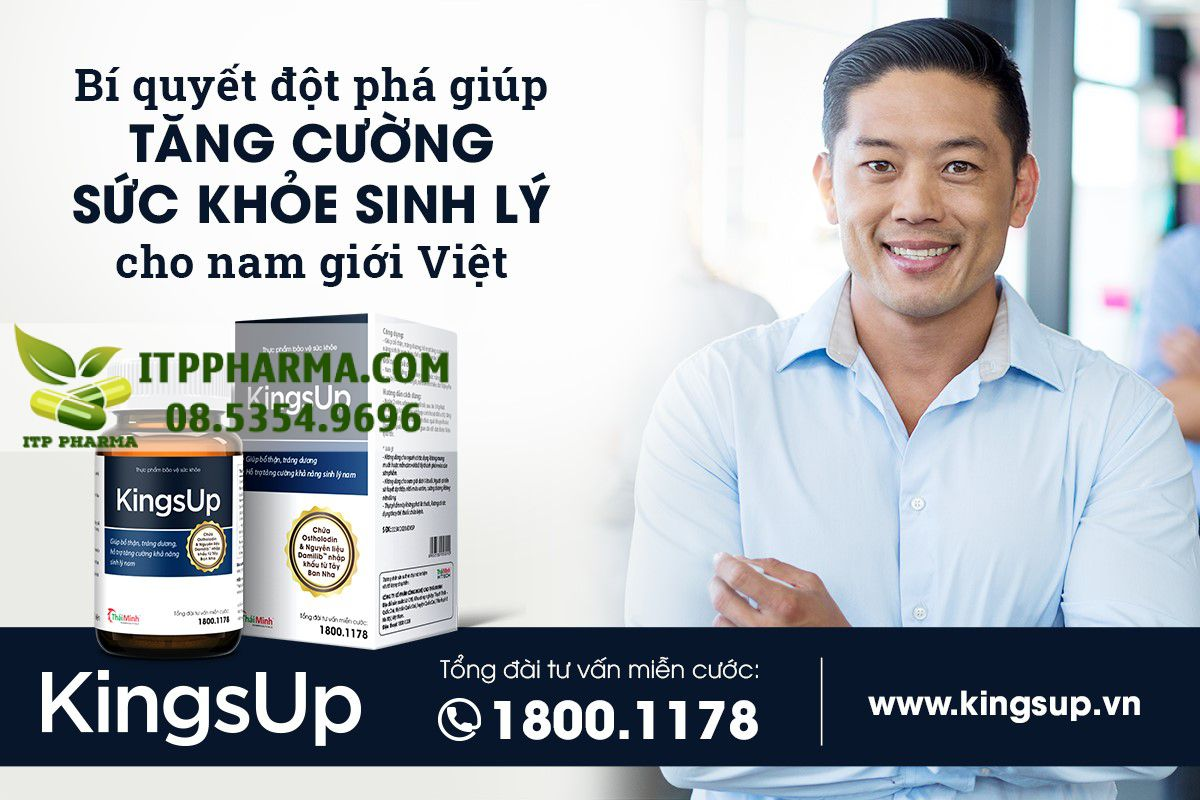 Kingsup - Bí quyết tăng cường sức khỏe sinh lý cho đàn ông Việt