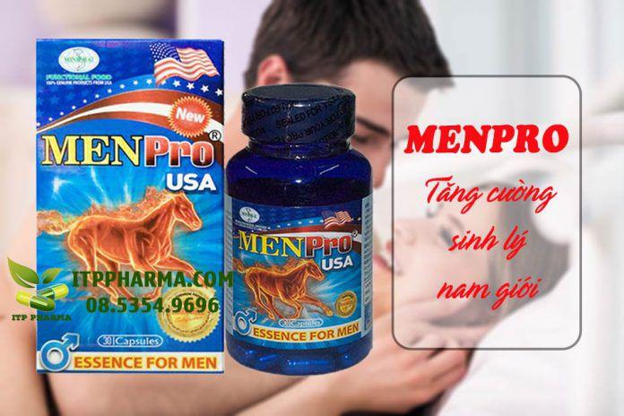 MenPro giúp tăng cường chức năng sinh lý ở nam giới