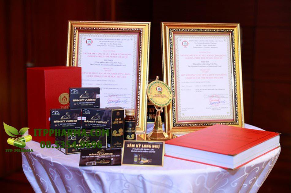 """Sâm Kỳ Vương được Hiệp hội VAFF trao tặng """"Huy chương vàng vì sức khỏe cộng đồng"""""""