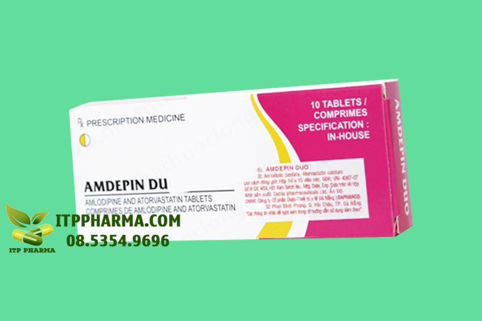 Hình ảnh hộp thuốc Amdepin Duo